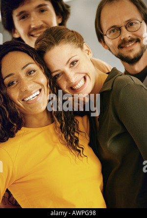 People smiling, portrait - Stock Photo