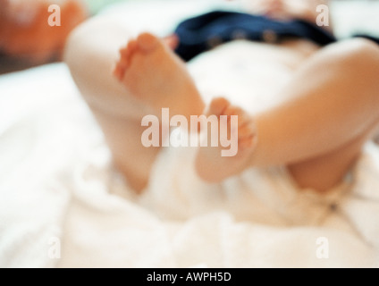 Baby's legs, close-up - Stock Photo