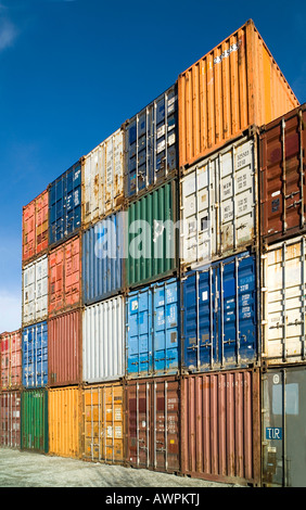 ... Various shipping containers - Stock Photo