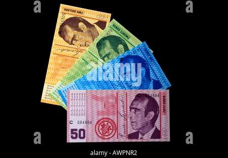Currency of the Principality of Hutt River, self-declared microstate in Western Australia - Stock Photo