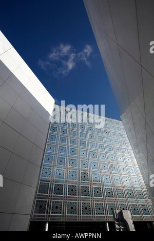 Institut du Monde Arabe building, Quartier Latin, Paris, France, Europe - Stock Photo