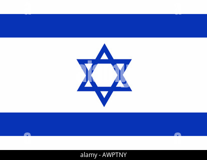 The flag of Israel - graphic - Stock Photo