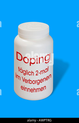 Doping as a medicine - symbolic picture - Stock Photo