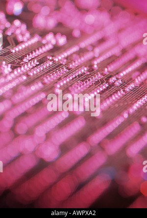 Circuit board, blurred, close-up - Stock Photo