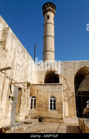 Mosque in the old town of Aleppo, Syria - Stock Photo