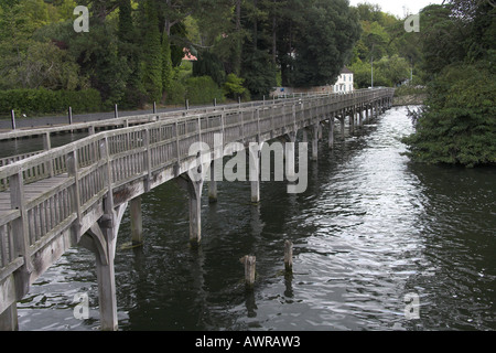 The Footbridge Over the River Thames by Marsh Lock Henley on Thames Oxfordshire UK - Stock Photo