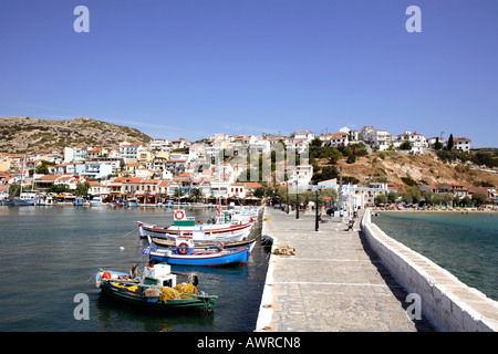 greece northern aegean islands samos the resort of pythagorion - Stock Photo