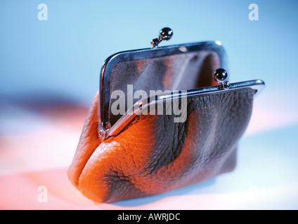 Open coin purse - Stock Photo