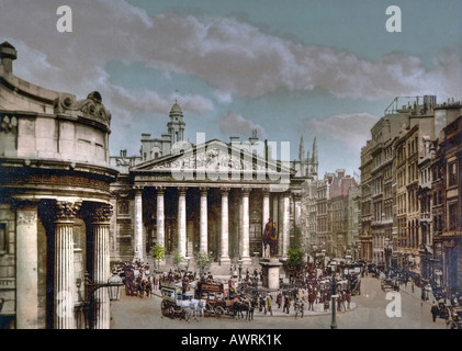 The Royal Exchange in the City of London - Stock Photo