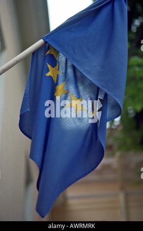 The flag of the European Union, Tallinn, Estonia - Stock Photo