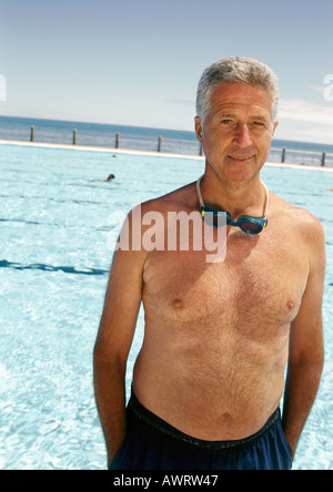 Elderly Man Swimming In A Pool Stock Photo Royalty Free Image 28851181 Alamy