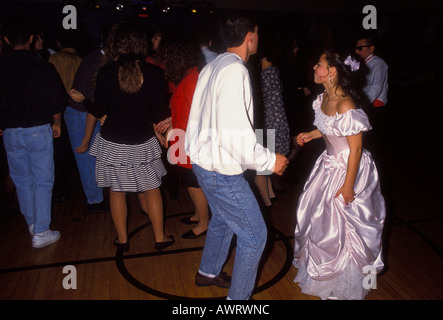 Guatemalan-American people, teenage boy and girl, dancing, Quinceanera party, city of Novato, California - Stock Photo