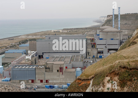 Penly nuclear power plant Seine maritime France - Stock Photo