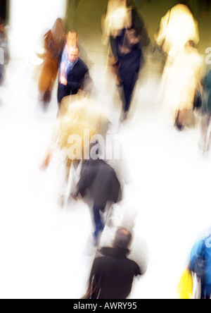 Crowd of people, blurred - Stock Photo