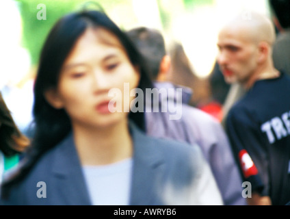 Businesswoman in crowd - Stock Photo