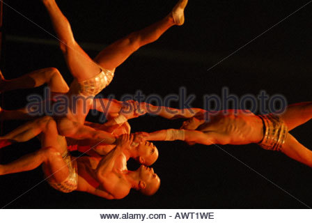 November 8 2006 New York United States Cirque du Soleil performance of its first ever live arena event DELIRIUM - Stock Photo