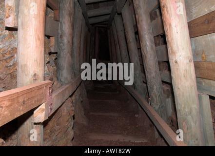 Mine Tunnel Geevor Tin Mine Cornwall England UK - Stock Photo