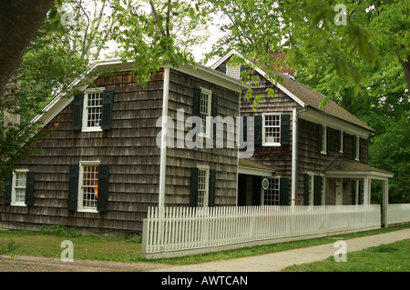 Historic House, colonial house, americana, early - Stock Photo