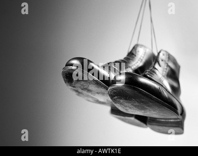 Leather shoes, close-up - Stock Photo