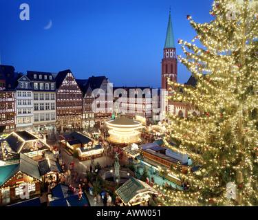DE - HESSEN: Christmas Market at Frankfurt on Main - Stock Photo
