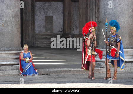 Actor front the Pantheon - Roma Lazio Italy - Stock Photo