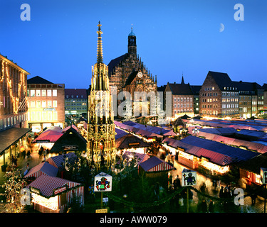 DE - BAVARIA: Christmas Market in Nuremberg - Stock Photo