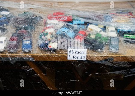 Model cars in the rain - Stock Photo