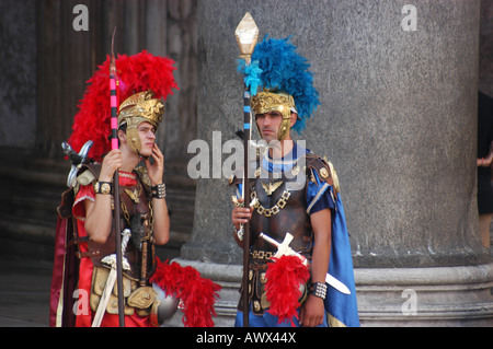 Actors front the Pantheon - Roma Lazio Italy - Stock Photo