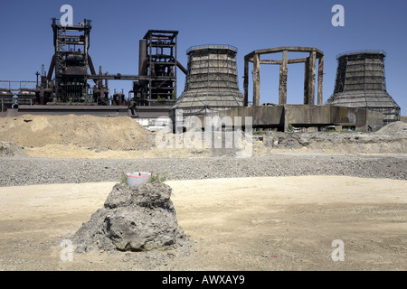 Industrial abandoned land of the former steel work Thyssen-Krupp/Phoenix West, Germany, North Rhine-Westphalia, - Stock Photo