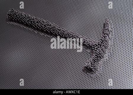 hammer of nails art - Stock Photo