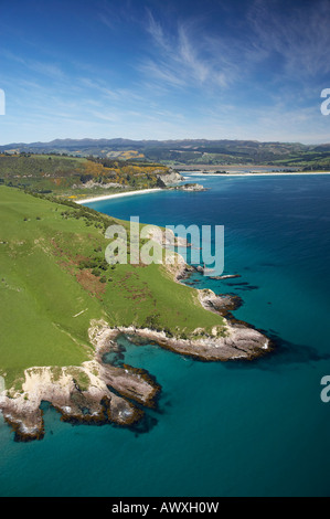 Potato Point Purakanui near Dunedin South Island New Zealand aerial - Stock Photo