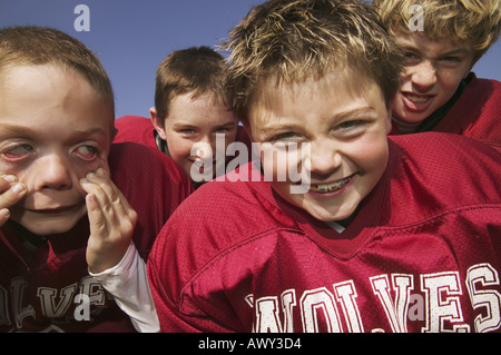 A group of young football players - Stock Photo