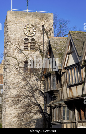 Saxon Tower - St Michael Church at the North Gate - Oxford - Stock Photo