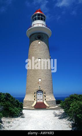 Cape du Couedic Lighthouse on Kangaroo Island, Australia - Stock Photo