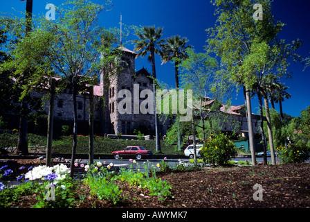 Greystone Mansion. Napa Valley, California - Stock Photo