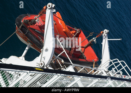 Lifeboat On The P O Ferry Pride of Bilbao - Stock Photo