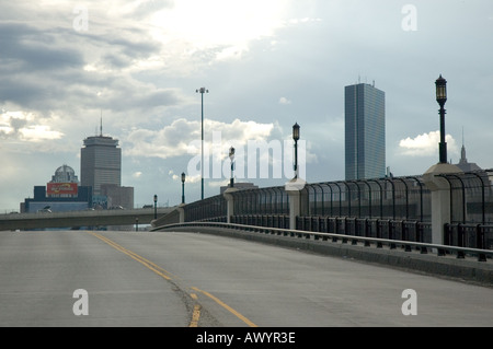 West Fourth Street Bridge from South Boston to the South End - Stock Photo