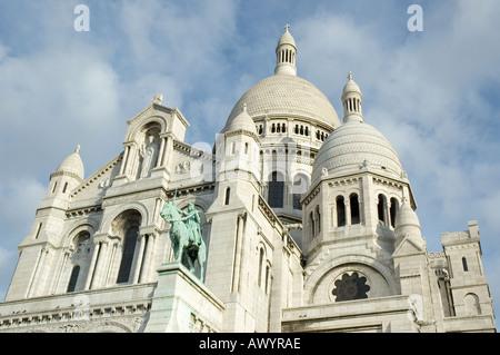 sacre coeur in paris france - Stock Photo