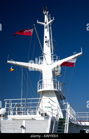 Mast On The P O Ferry Pride of Bilbao - Stock Photo