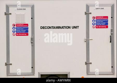 A Decontamination unit - Stock Photo