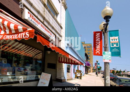 Beernsten's Candies and ice cream parlor in Manitowoc  Wisconsin - Stock Photo
