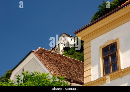 Vaduz view at the castle Principality of Liechtenstein - Stock Photo