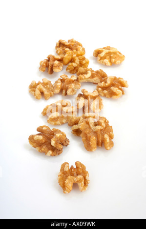 Wallnut cores Juglandaceae - Stock Photo