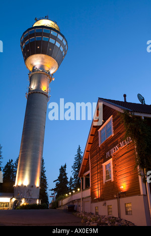 Puijo Tower, Kuopio, Eastern Lakeland, Finland - Stock Photo