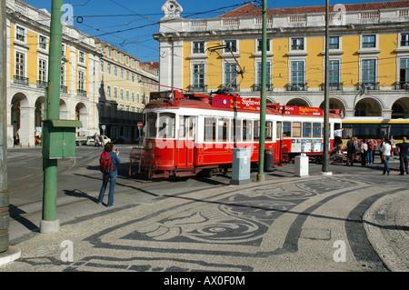 Praca do Comercio, square in Lisbon, Portugal, Europe - Stock Photo