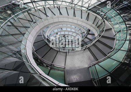 Spiral Staircase Inside The London City Hall On The South