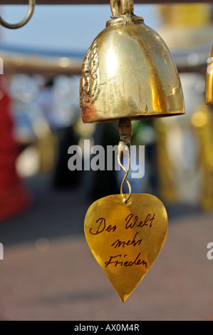 Wishing bell, Golden Mount, Bangkok, Thailand, Southeast Asia, Asia - Stock Photo