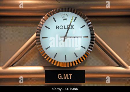 Rolex clock, Sheikh Rashid Terminal, Dubai International Airport, Dubai, United Arab Emirates, Asia - Stock Photo