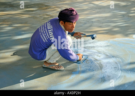 Migrant worker in Koh Chang, Thailand, Southeast Asia, Asia - Stock Photo