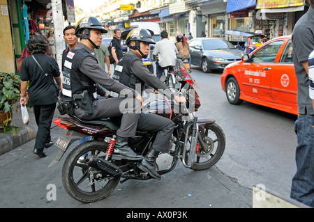 Police, Bangkok, Thailand, Southeast Asia, Asia - Stock Photo
